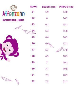 Lasten paljasjalkakengät Crab/tarra  - Affenzahn