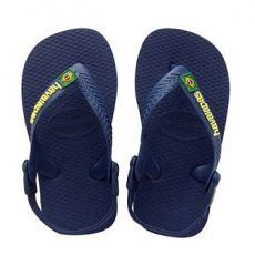 Pienten flip flopit Baby Brasil logo -navy-Havaianas