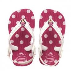 Pienten tyttöjen flipflopit Baby Minnie -pinkki/pilkku-Havaianas