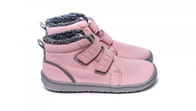 Lasten lämminvuoriset paljasjalkakengät Penguin - Pink - BeLenka