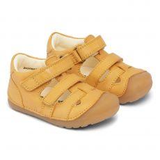 Lasten ensiaskelsandaalit-keltainen-Petit Bundgaard