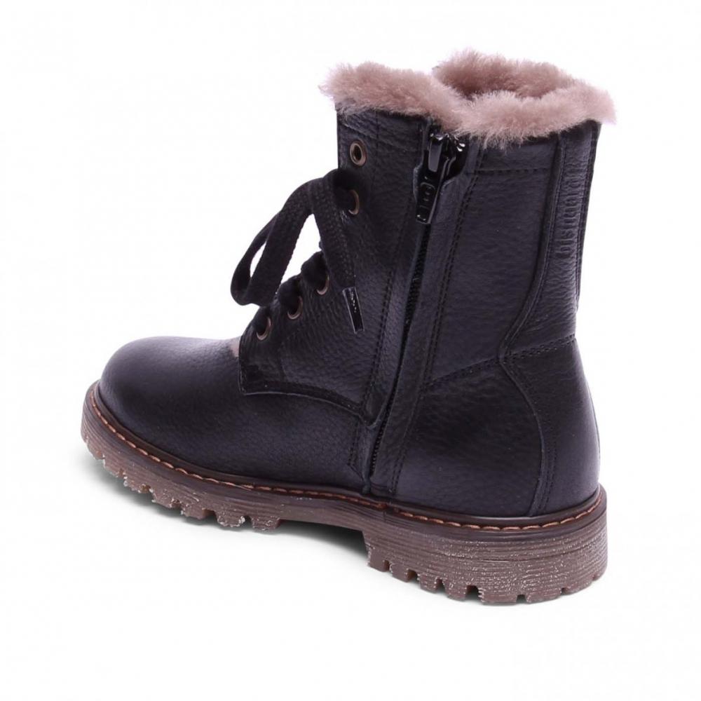 Nauhalliset talvikengät -musta - Bisgaard - PikkuJalat c8d227d883