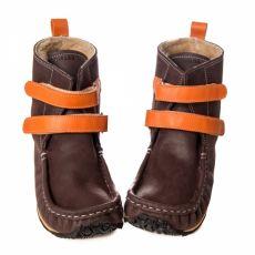Lasten paljasjalkakengät -brown/orange - YETI Zeazoo