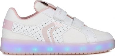 Lasten tennarit -LED valo-white/pink- Kommodor- Geox