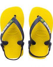 Keltaiset flip flopit Baby Brasil-Havaianas