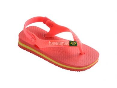 Pikkutyttöjen flip flopit Baby Brasil Logo -coral-Havaianas
