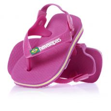 Pienten flip flopit Baby Brasil logo -superpink-Havaianas