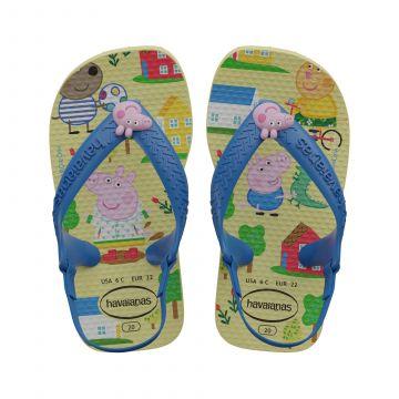 Baby flip flopit -sini/keltainen- Pipsa Possu Havaianas
