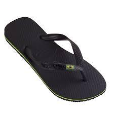 Miesten/naisten flip flopit Brasil musta -Havaianas