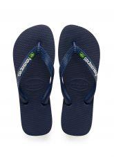Lasten flip flopit Kids Brasil logo- navy blue -Havaianas