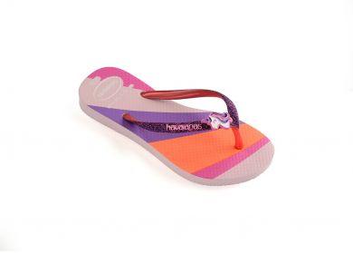 Lasten flip flopit Kids Slim glitter-candy pink -Havaianas