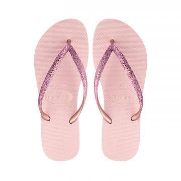 Lasten flip flopit Kids Slim shiny- ballet rose- Havaianas