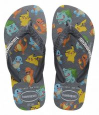 Lasten flip flopit Kids Top Pokemon-new graphite -Havaianas