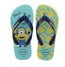 Lasten flip flopit Kids Minions-blue/navy -Havaianas