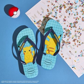 Lasten flip flopit Kids Top Pokemon-blue -Havaianas