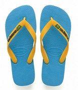 Lasten flip flopit brasil logo turkoosi -Havaianas