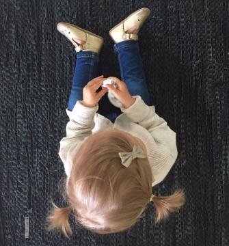 Pikkutyttöjen sisätossut -kulta- Bisgaard