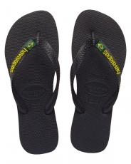 Miesten/naisten flip flopit Brasil logo musta -Havaianas