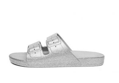 SlipOn sandaalit- hopea/glitter - Moses