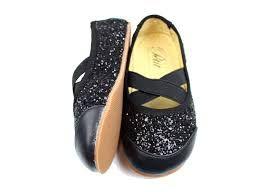 Ballerinatossut-musta glitter- Petit by Sofie Schnoor