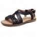 Isojen tyttöjen sandaalit -musta/glitter- Bisgaard