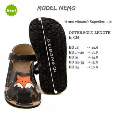 Lasten sandaalit - Nemo Gray -tummanharmaa- Zeazoo