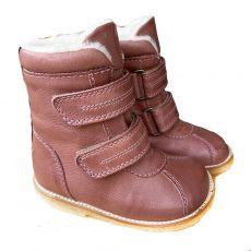Lasten TEX-talvikengät tarroilla -tumma roosa-RAP