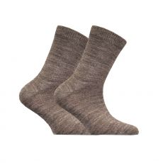Lasten merinovillainen sileä sukka- harmaa- Sukkamestarit