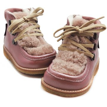 Lasten TEX-talvikengät -shine rosa/beige- Angulus